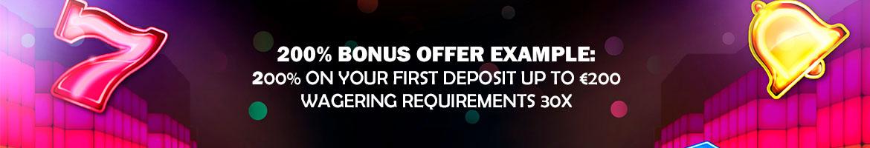 200% casino bonus example