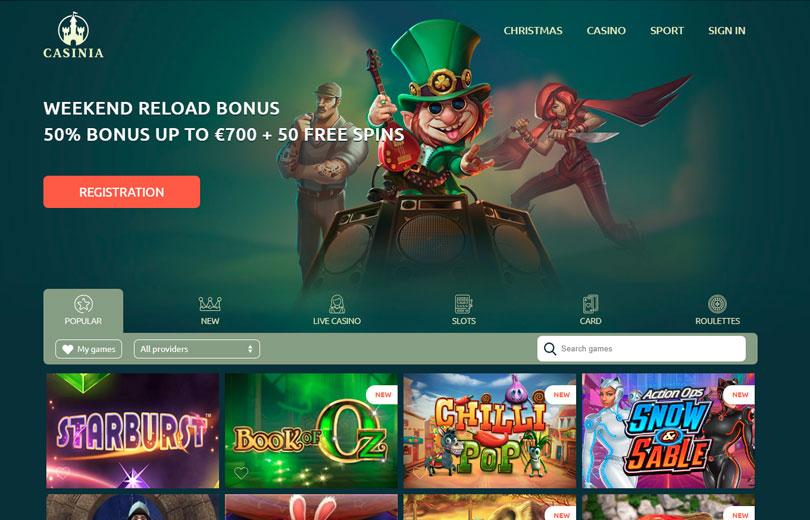 casinia casino site review