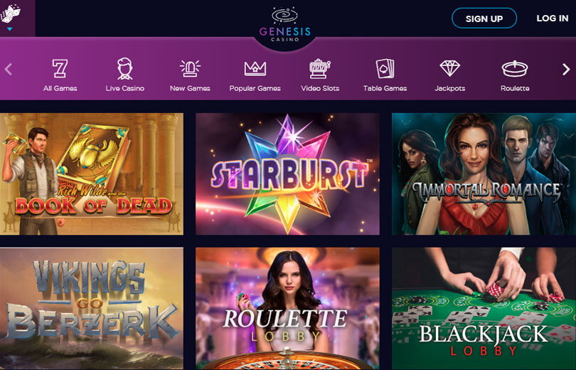 genesis casino site review