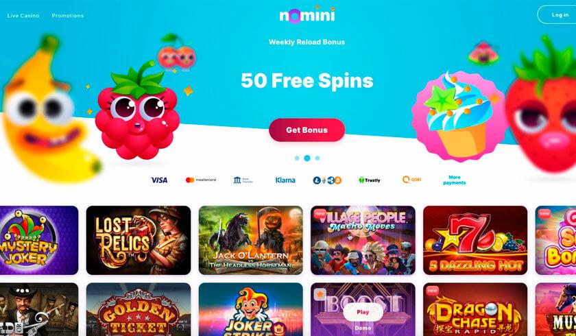 nomini site screenshot