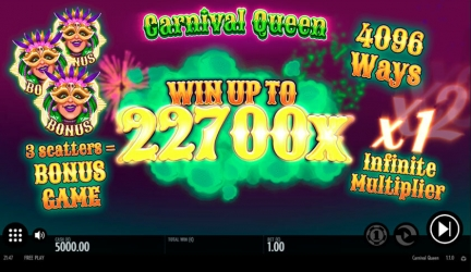 Carnival Queen slot play for free – Thunderkick